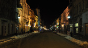 Łódź nocą